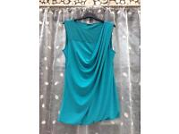 Women's SOUTH teal blue top/dress, size 14