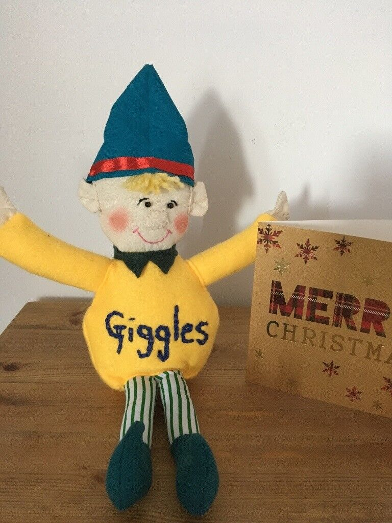 """Elf on the shelf """"Giggles"""" handmade / washable .Full of safety stuffing and fun"""