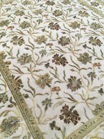 Wool and silk handmade rug