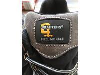 Brand new men's work boots steel toecaped