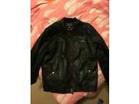 Leather crushed style jacket / size L