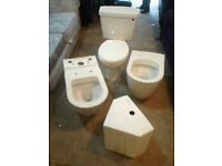 3 toilet assorted pans with 2 cisterns all new