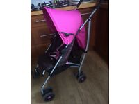 Mamas and papas pink stroller