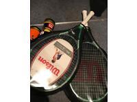Tennis racket & tennis balls sale