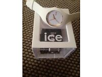 White and gold ICE watch