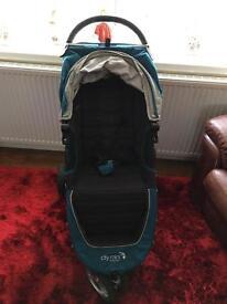 Baby jogger city mini blue black pushchair