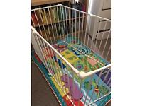 BabyDan Playpen or Room Divider | solid coated metal with gate