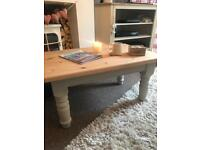 Solid pine chunky coffee table