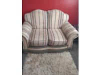 Two seat sofa and armchair.