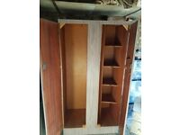 1960s wardrobes and dressing table, marble effect in pinkish colour, solid but old
