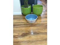 Plant pots (large, medium, small) x 5