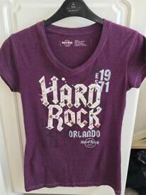 Genuine Ladies Hard Rock Tshirt Size 12