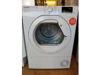 Ex Display Hoover Link HL C8DCG-80 Front-Loading Electric Dryer - 8 kg - White
