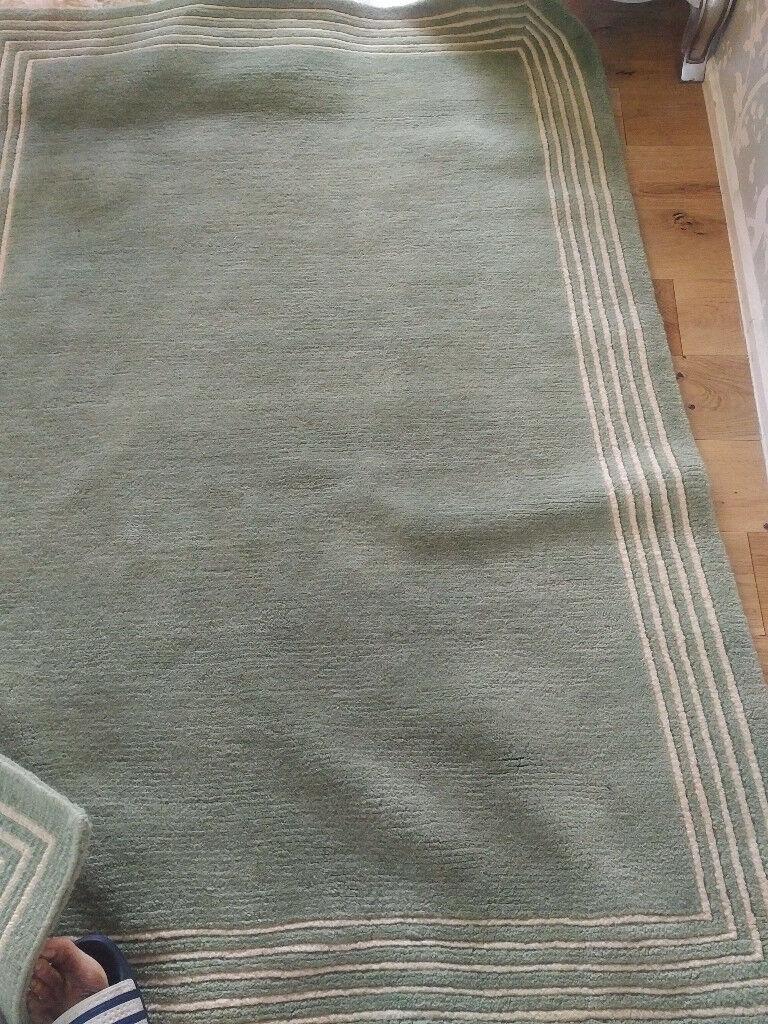 John Lewis Fine Line Green Rug 180x120 In Woodford