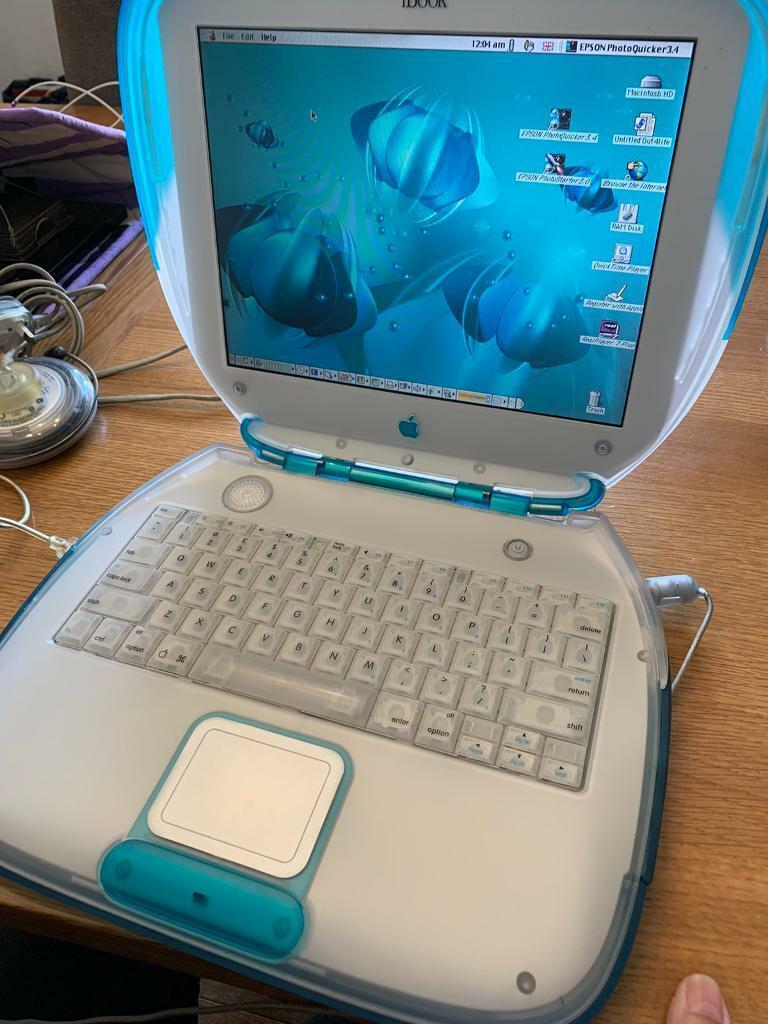 Retro Vintage Apple iBook G3 Clamshell Blue Laptop | in ...