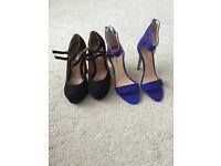 2pairs of ladies heels size 3