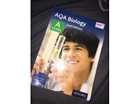 AQA TEXTBOOK BIOLOGY A LEVEL RRP £42, SALE £30!!!