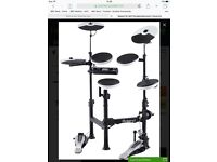 Roland TD-4KP electric drum kit with Roland v-drums head phones and Roland drum monitor