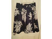 Women's botanical print skirt