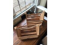 Wood crates x 6 for groomsman boxes
