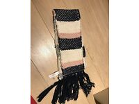 Pink and cream scarf