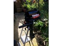 Hangkai 6 HP boat engine. Only been used for 3 hrs. Nearly new condition. first see will buy