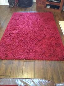 Next Red Rug & Red Cushions
