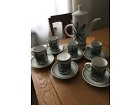 Vintage Monastery Rye 13 piece coffee set