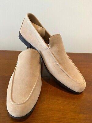 John Lobb Beige Suede Loafer Shoes size: 8.5 UK  Men