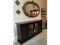 Large Oak veneer reproduction dresser/bookcase
