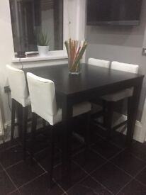 Ikea tall dining table and chairs/stools
