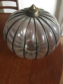 2 BHS Glass & Metal Lampshades