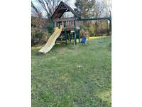NOW SOLD - Climbing frame which includes swings and slide - pending collection
