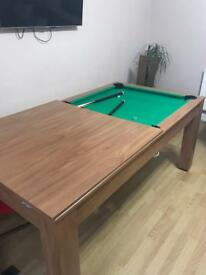 Gamesson pool/table tennis/dining table