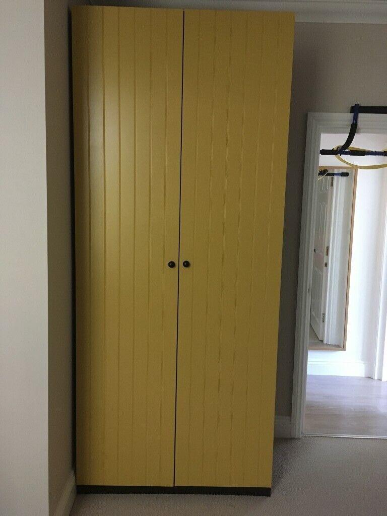 IKEA PAX double wardrobe yellow and dark brown   in Poole, Dorset   Gumtree