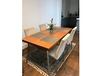BO Concept Dining Table + 4 Chairs