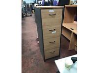 Beech & Grey 4 Draw Cabinet