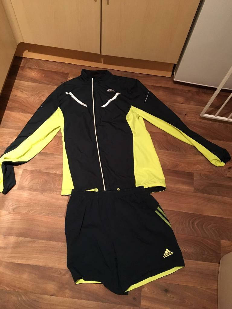 Adidas clima proof running jacket and shorts size smallin Bishop Auckland, County DurhamGumtree - Excellent used condition, ideal for outdoor running. Clima proof running jacket with fluorescent yellow trim and shorts.AdidasSize small