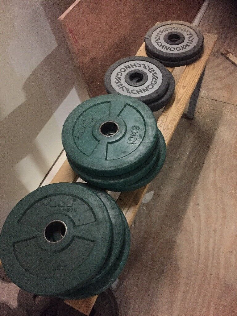 small amount of gym weights