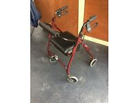 Mobility Walker with Seat and Brakes