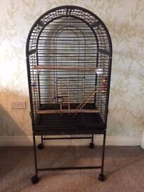 Aviary bird cage with stand