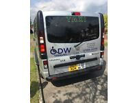 GDW Travel Ipswich's wheelchair mult-seater Taxi Airports and local Travel