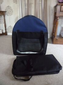 Fabric Crate for Small to Medium Dog or Cat with Storage Bag (Dereham)