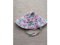 JoJo Maman Bebe Summer Ditsy Floppy Sun Hat: Girls age 2-3yrs
