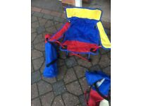 Children's fold away/camping chairs x2