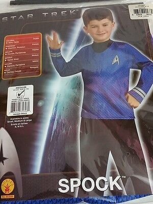 New Star Trek Spock Boys Halloween Costume Pants & Shirt Medium 5-7 Black Blue