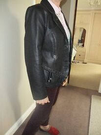 Garella ladies size 4 leather jacket immaculate.