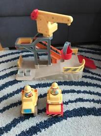 Car toys, crane, truck