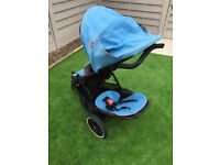 Phil & Teds Double buggy including raincover and newborn insert