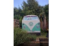 VW Camper Van tent Ltd Edition Green - Retro / Festival